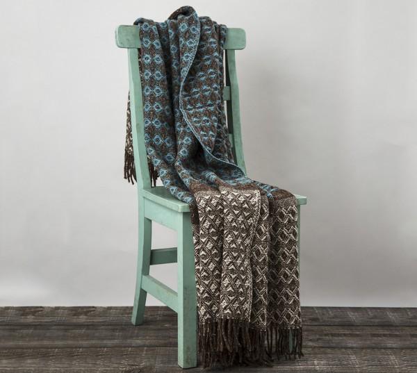 Wolldecke mit originellem Webmuster - Cob Weave