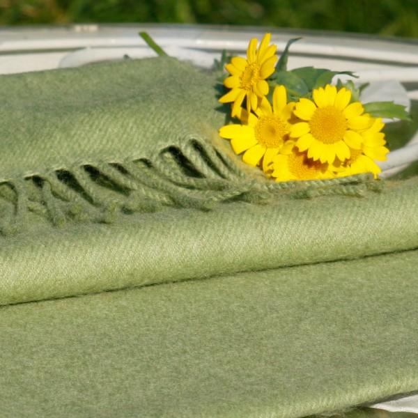 Weicher Merino-Schal, hellgrün