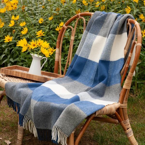 Weiche Wolldecke aus Merinowolle mit Cashmere