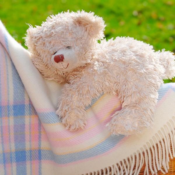 Klassische Babydecke, reine Wolle