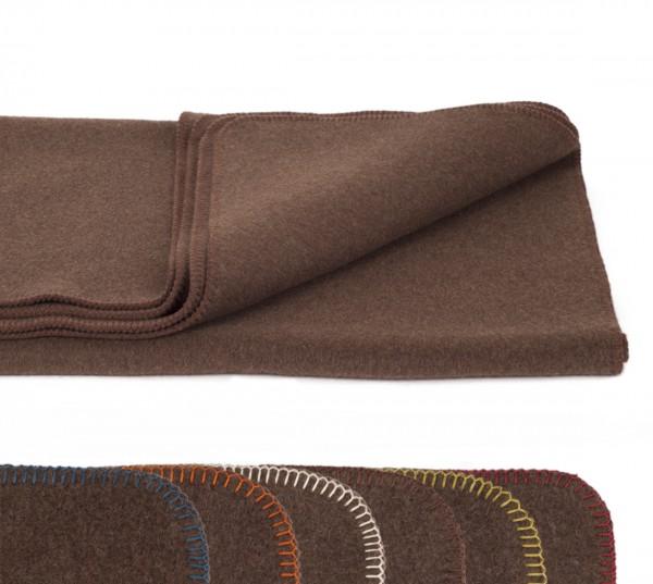 Braune Wohndecke 150 x 200