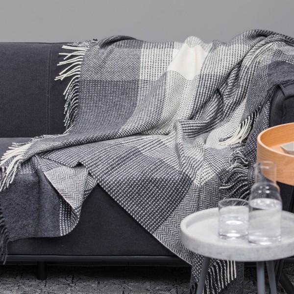 Elegante Merino-Wolldecke mit Kaschmir