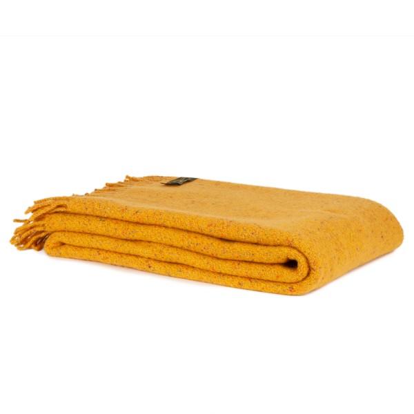 Gelbe Wolldecke, handgewebt