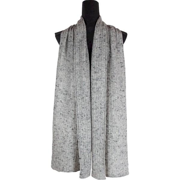 Warmer Schal, grau meliert